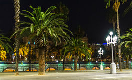 Nachtkai in Barcelona Lizenzfreie Stockfotografie