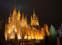Nachtkathedraal Royalty-vrije Stock Foto