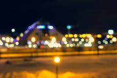nachtkazan cityscape royalty-vrije stock afbeeldingen