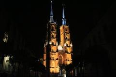 Nachtkerk royalty-vrije stock foto's