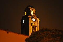 Nachtkirche stockfoto