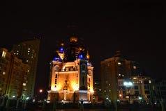 Nachtkirche Stockbild