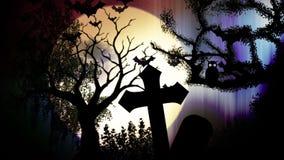 Nachtkirchhof-Animation stock abbildung
