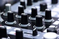 Nachtklub DJ-Mischer Stockfotografie