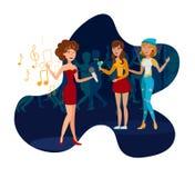 Nachtklub-Partei, Konzert-flache Vektor-Illustration stock abbildung