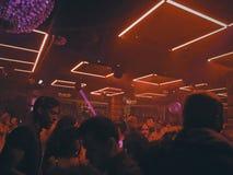 Nachtklubszenen Stockbild