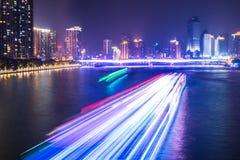 Nachtkreuzfahrt auf Pearl River Lizenzfreie Stockfotografie