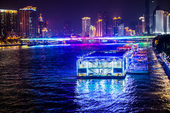 Nachtkreuzfahrt von Pearl River Lizenzfreie Stockfotografie