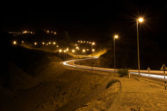Nachtkronkelweg Royalty-vrije Stock Foto