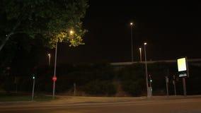 Nachtkruispunten stock footage