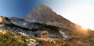Nachtlager in den julianischen Alpen Stockbild