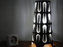 Nachtlamp met wit licht Stock Foto