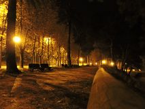 Nachtlandschaft von Samil-Weg Stockbild