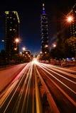 Nachtlandschaft von Taipeh Lizenzfreie Stockfotografie