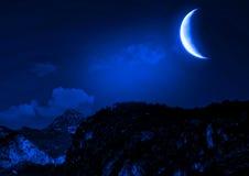 Nachtlandschap royalty-vrije stock afbeelding