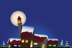 Nachtlandschap Stock Afbeelding