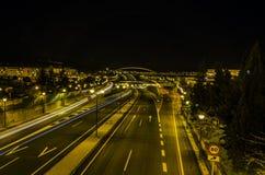 Nachtlandstraße Lizenzfreie Stockbilder