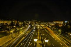 Nachtlandstraße Stockbilder