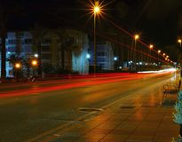 Nachtlange Belichtung lizenzfreies stockfoto