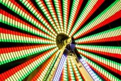 Nachtlanger Belichtungs-Vergnügungspark Stockfotografie