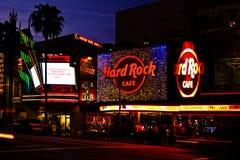 Nachtleben auf Hollywood-Prachtstraße Stockfoto