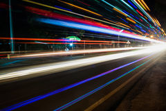 Nachtleben bei Chidambaram, Indien Lizenzfreies Stockfoto