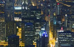 Nachtleben-Chicago-Skyline Lizenzfreie Stockbilder
