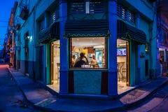 Nachtleben in Havana, Kuba stockbild