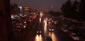 Nachtleben in Karatschi stockbild