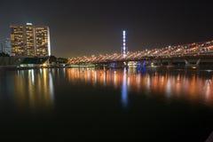Nachtleben in Singapur Stockfotografie