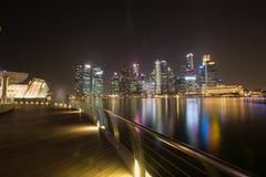 Nachtleben in Singapur Lizenzfreies Stockbild
