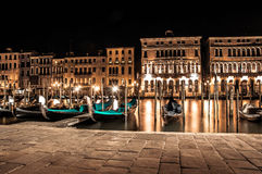 Nachtleben in Venedig Lizenzfreies Stockfoto