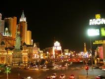 Nachtleven in de Strook van Las Vegas, Las Vegas, Nevada, de V.S. stock foto