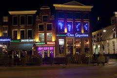 Nachtleven in Groningen Stock Afbeeldingen