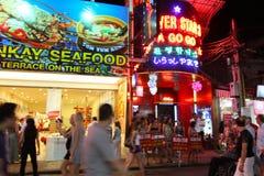 Nachtleven in Pattaya, Thailand. Stock Afbeeldingen