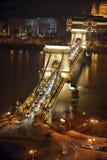 Nachtlicht in Boedapest Stock Foto