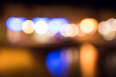 Nachtlichten Stock Foto