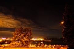 Nachtlichten Stock Afbeelding