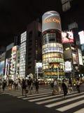 Nachtlichten in Ginza, Tokyo Stock Afbeelding