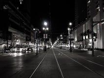 Nachtlichten in New Orleans stock foto