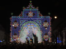 Nachtlichten in Sibiu Stock Foto