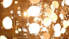 Nachtlichten tijdens Kerstmis stock footage