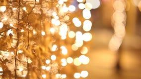 Nachtlichten tijdens Kerstmis stock videobeelden