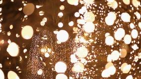 Nachtlichten tijdens Kerstmis stock video