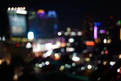 Nachtlichten van de grote stad Stock Foto's