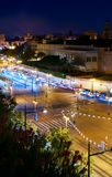 Nachtlichten van Valencia 4 Royalty-vrije Stock Fotografie