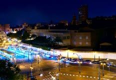 Nachtlichten van Valencia 3 Royalty-vrije Stock Afbeelding