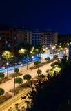 Nachtlichten van Valencia 2 Stock Foto's