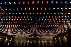 Nachtlichten voor Kerstmistijd in Turijn (Italië) Stock Afbeelding