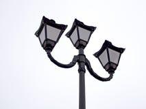 Nachtlichten in zwarte Royalty-vrije Stock Foto